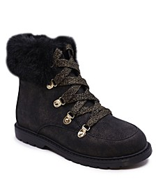 Little Girls Combat Boot Side Zipper