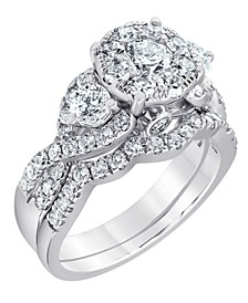 Diamond Bridal Set Ring (2 ct. t.w.) in 14K White Gold