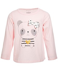 Toddler Girls Panda Bow T-Shirt, Created for Macy's