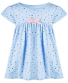 Baby Girls Splatter Dot Cotton Dress, Created for Macy's