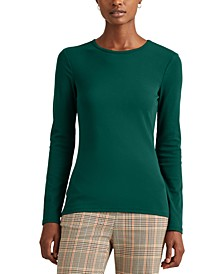 Petite Long-Sleeve Crewneck Top