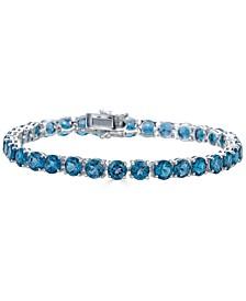 Blue Topaz Tennis Bracelet (19 ct. t.w.) in Sterling Silver