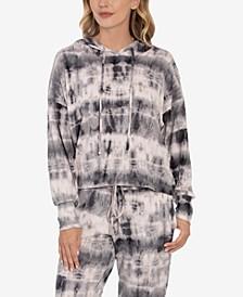 Women's Tie Dye Print Hacci Loungewear Hoodie