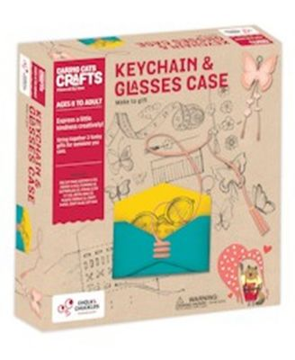 Chalk Chuckles Keychain with Glasses Case Craft Kit
