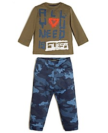 Baby Boys Long Sleeve T-shirt & French Terry Jogger Set