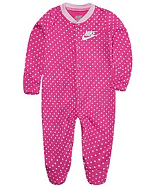 Baby Girls Full-Zip Footed Coverall