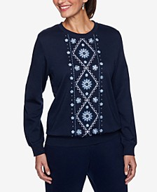 Petite Embroidered Sweatshirt