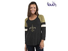 New Orleans Saints Women's Distinct Snap Thermal T-Shirt