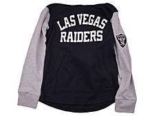 Las Vegas Raiders Youth Legend Lightweight Hoodie