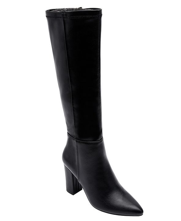 JANE AND THE SHOE Women's Mabel Block-Heel Tall Dress Boots