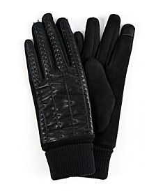 Women's Faux Leather Stitched Touchscreen Glove