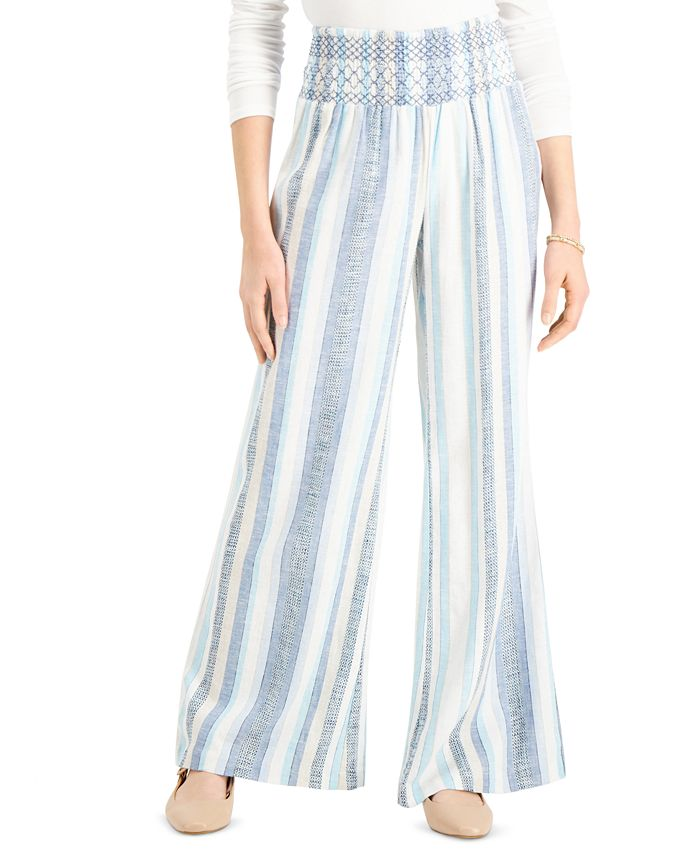 Indigo Rein - Juniors' Striped Smocked Beach Pants