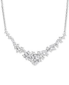 "Diamond ""V"" Statement Necklace (3/4 ct. t.w.) in 14k White Gold"