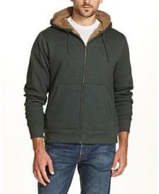 Men's Sherpa Lined Fleece Hoodie