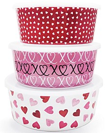 Valentine's Day Melamine Nesting Food Storage Containers, Set of 3, Created for Macy's