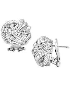 Diamond Love Knot Stud Earrings (1/4 ct. t.w.) in Sterling Silver