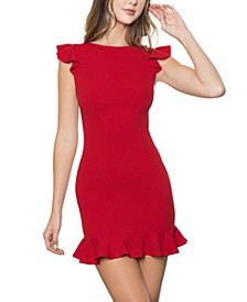 Juniors' Ruffled Sheath Dress