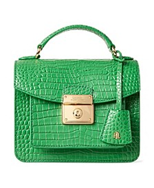 로렌 랄프로렌 Lauren Ralph Lauren Croc Embossed Leather Mini Beckett Satchel