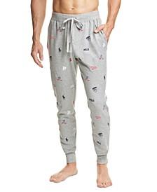 폴로 랄프로렌 파자마 바지 Polo Ralph Lauren Mens Gray Icon Pajama Pants,Andover Heather