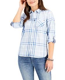 Plaid Roll-Tab Shirt