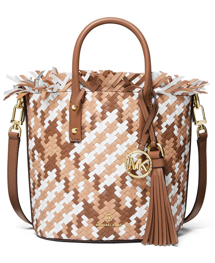 Michael Kors - Marley Medium Leather Bucket Messenger Bag