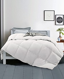Year Round Down Fiber Gusseted Comforter with Cotton Cover, Full/Queen