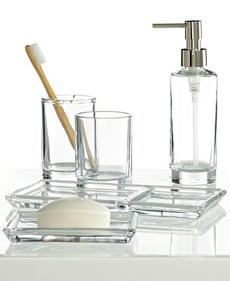 Bathroom Accessories Hotel Collection closeout! hotel collection glass tray, created for macy's