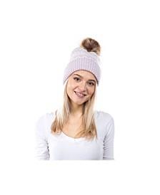 Women's Fair isle Faux Fur Pom Hat
