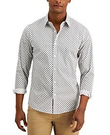 Men's Logo-Print Stretch-Cotton Shirt