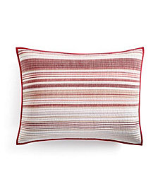 Holiday Yarn-Dye Quilted King Sham