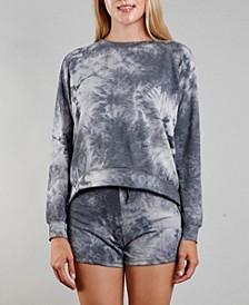 Women's Tie Dye Raglan Sweatshirt