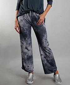 Women's Tie Dye Vent Hem Pocket Pant