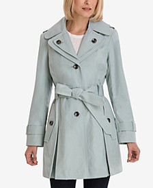 Hooded Belted Trench Coat