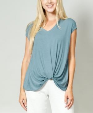 1804 Women's V-Neck Twist Front T-shirt
