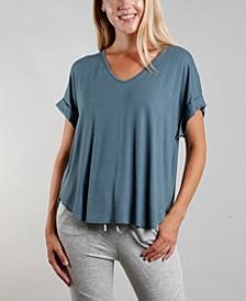 Women's Rolled Sleeve V-Neck T-shirt