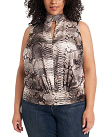 Trendy Plus Size Keyhole Top