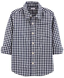Big Boys Gingham Poplin Button-Front Shirt