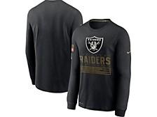 Las Vegas Raiders Men's 2020 Salute to Service Long Sleeve T-Shirt