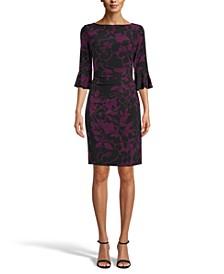 Katrina Bell-Sleeve Sheath Dress