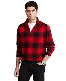 Men's Checked Buffalo Plaid Estate-Rib Cotton Pullover