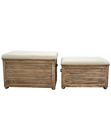 Speight Flip Top Storage with Bench, Set of 2