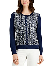 Lace-Front Cardigan Sweater, Created for Macy's
