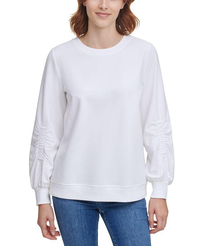 Calvin Klein - Ruched-Sleeve Sweatshirt