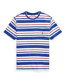 Big Boys Striped Cotton Pocket T-shirt