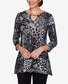 Women's Mixed Animal Print Top