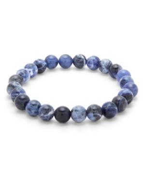 Men's Sodalite Agate Bead Bracelet