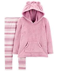 Carters Big  Girl 2-Piece Fuzzy Hoodie & Fair Isle Legging Set