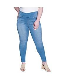 Women's Plus Size Tummy Toner Pull-on Legging