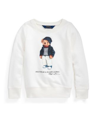 폴로 랄프로렌 여아용 스웻셔츠 Polo Ralph Lauren Toddler and Little Girls Polo Bear French Terry Sweatshirt,Antique Cream