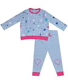 earth by Organic Baby Girl 2-Piece Allison Pant Set